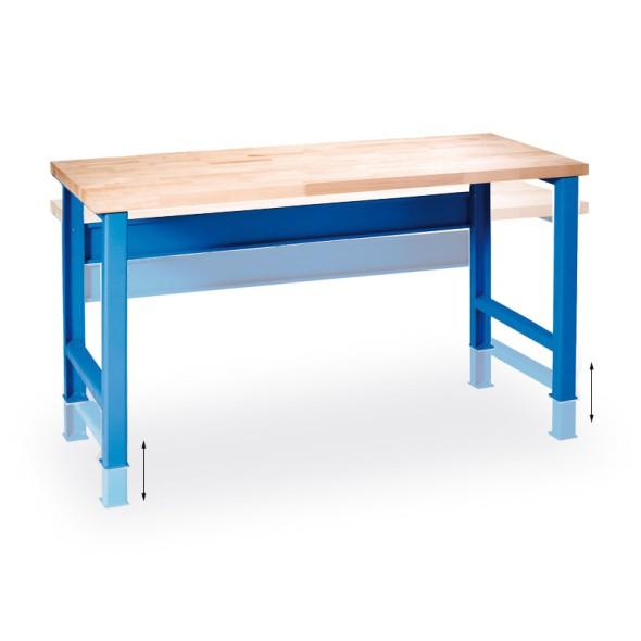Werkbank GÜDE, höhenverstellbar, 1500 x 800 mm, blau