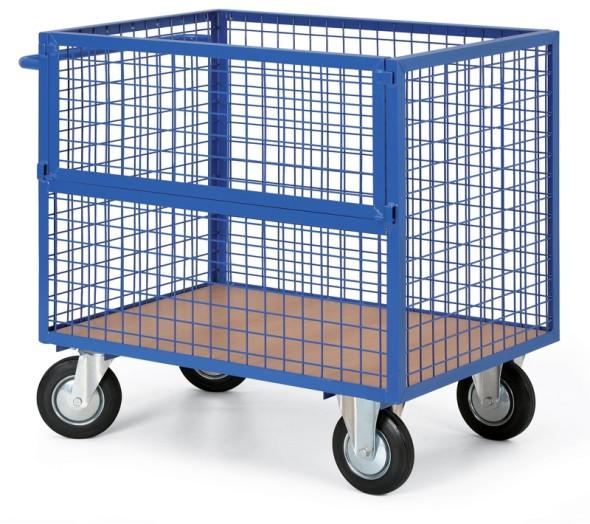 Schrankwagen mit Drahtwänden