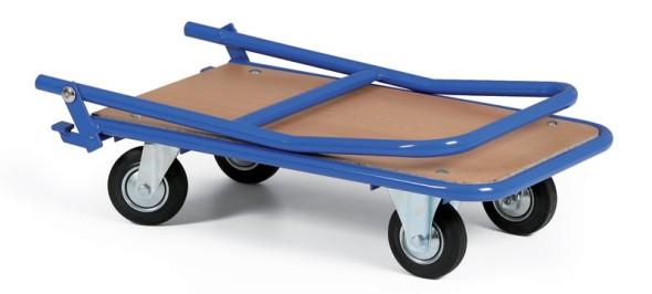 Wagen mit Holzspanplatte und klappbarem Handgriff