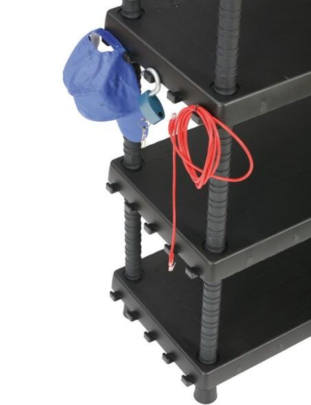 Kunststoffregal mit verstellbaren Regalböden, 1645x920x450mm